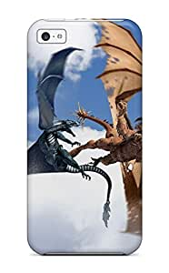 Hot Snap-on Dragon Fight Hard Cover Case/ Protective Case For Iphone 5c