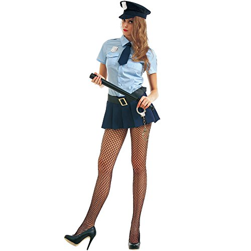 Bad Cop Women's Halloween Costume Sexy Police Officer of Law - Halloween Costume Bad