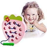 LEADSTAR Fresa de Madera Juguete de Rosca,Juego de Viaje Aprendizaje temprano Motores Finos Montessori Regalo Educativo…
