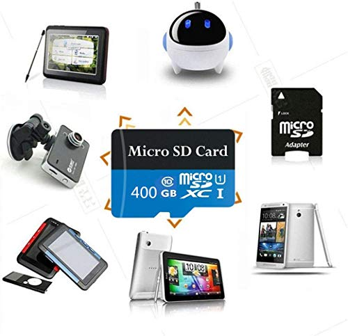 High Speed 400GB Micro SD Card Designed for Android Smartphones Tablets Class 10 SDXC Memory Card with Adapter 400gb-B