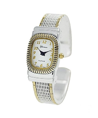 Geneva Platinum Ladies Ornate Design Cuff Watch (Fashion Cuff Watch Ornate)