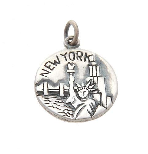 Sterling Silver New York NYC Big Apple Charm/Pendant Jewelry Making Supply Pendant Bracelet DIY Crafting by Wholesale Charms
