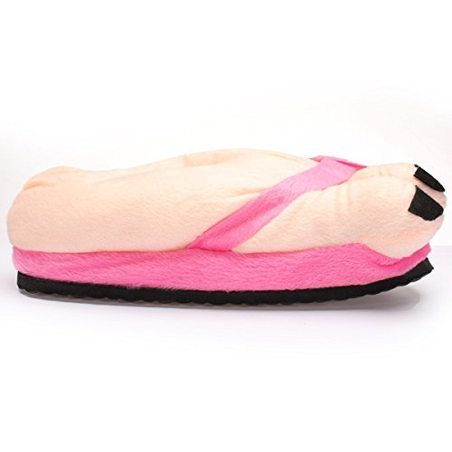 Maybest Funny Winter Warm Big Toe Cotton Home Pantofole Peluche Amanti Indoor Novità Regalo Rosa