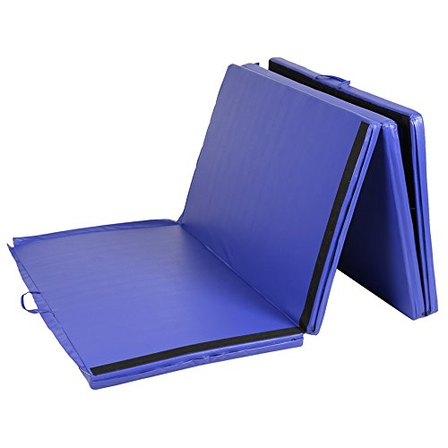 4'x10'x2'' Gymnastics Mat Thick Folding Panel Gym Fitness Exercise Blue TKT-11 by TKT-11