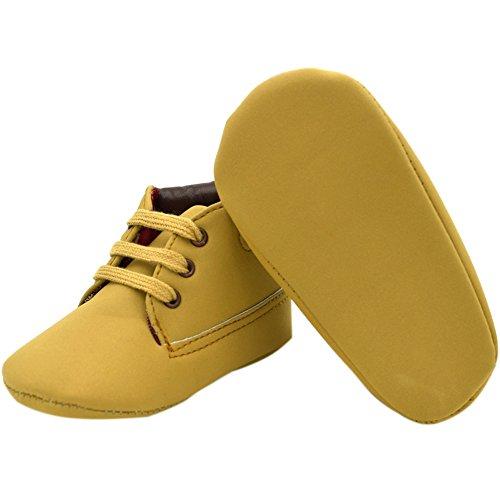 Etrack-Online Baby Sneakers - Zapatos primeros pasos de Otra Piel para niño caqui