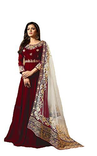 New Desiner Indian/Pakistani Ethnic wear Georgette Anarkali Gown LT (Red, LARGE-42)