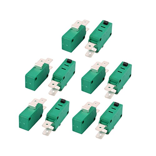 uxcell 10 Pcs KW3-0Z Short Hinge Roller Lever SPDT Momentary Micro Switch 16A 125/250V AC (Switch Kw3)