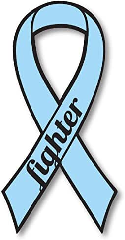 Aqua Prostate Cancer Fighter Ribbon Car Magnet Decal Heavy Duty Waterproof
