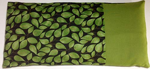 Microwave Heating Pad- OLIVE LEAVES- Natural Buckwheat-Flaxseed-Rice Heating Pad or Cold Pack-for Adults/Seniors/Teens- Unscented or Choose an Organic Herb-Washable Cotton Cover