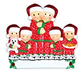 Grantwood Technology PERSONALIZED CHRISTMAS ORNAMENTS FAMILY KIT- PAJAMA FAMILY OF 6 KIT
