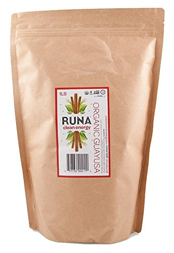 RUNA Organic Clean Energy Loose Leaf Guayusa Tea,  Cinnamon - Lemongrass, 1 Pound