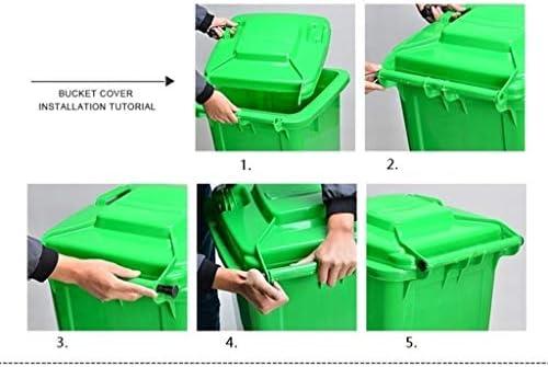 Wicemoon 1pcs Cesto de Basura de Basura de Pl/ástico Puede para La Caja de Almacenamiento de La Cocina de Oficina Gris