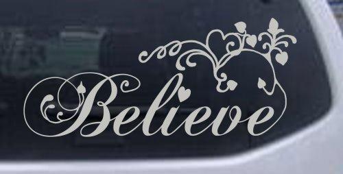 11 4in Silver Believe Christian Sticker