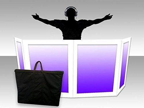 DJ Facade / DJ Booth by Dragon Frontboards: Naga 2 LG 2 SM - 4 Panel / White Frame / Soft Carry Case