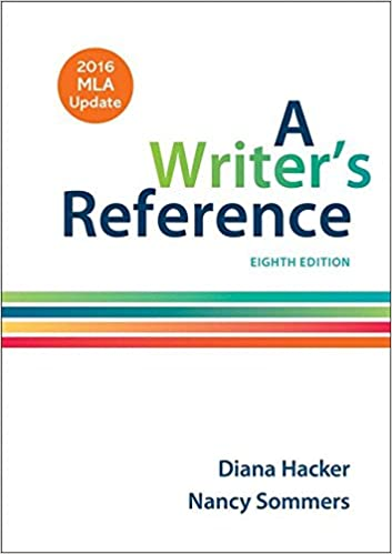 amazon com a writer s reference with 2016 mla update 9781319083533