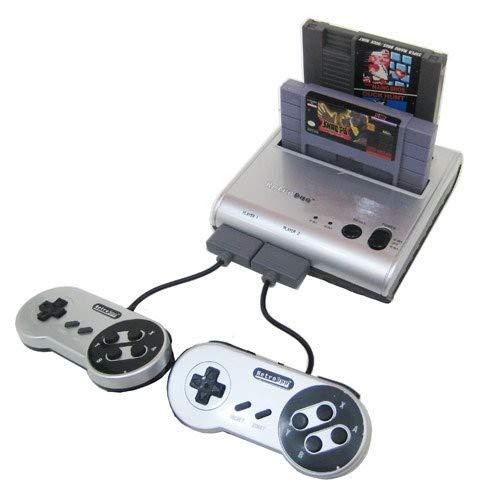 Retro-Bit Retro Duo Twin Video Game System NES and SNES V3.0 - Silver/Black