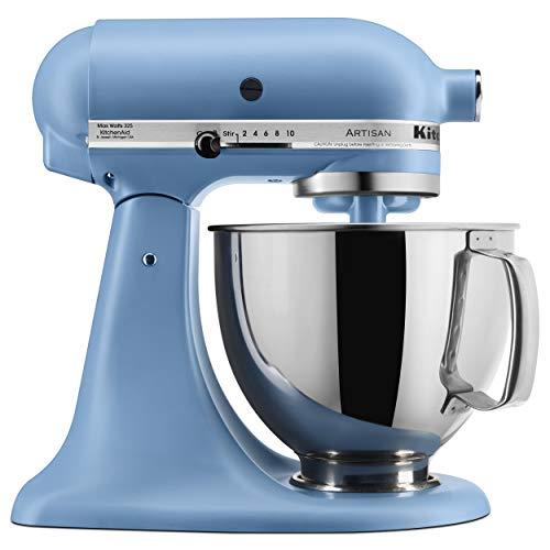 KitchenAid KSM150PSVB Artisan Stand Mixers, 5 quart, Matte Velvet Blue