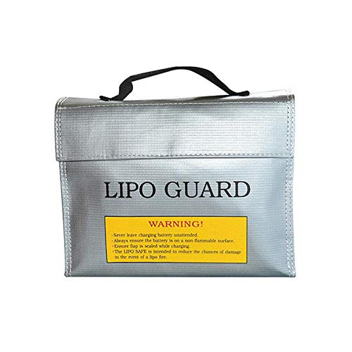 Explosionproof Lipo Battery Safe Bag, Lipo Battery Guard Safe Bag, Fire Water Resistant Charge Storage LiPo Battery Pouch Sack Protection Bag, 240 x 64 x 180 mm (1PC)