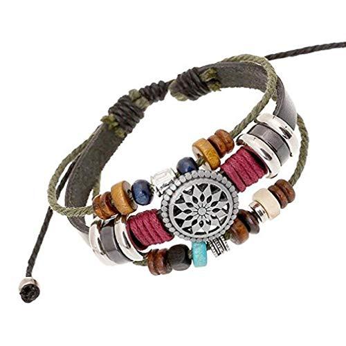 Noopvan Bracelet Vintage Bohemia Wind Beaded Multilayer Hand Woven Bracelet (Multicolor) -