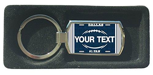 BleuReign(TM) Personalized Custom Name Football Dallas License Plate Metal Keychain