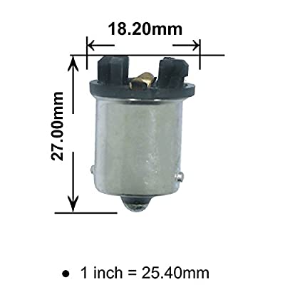 PA 2x T10 194 168 to 1156 Ba15s Bulb Base Converter: Automotive