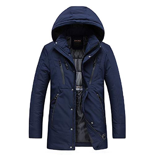Thicken Hooded Energy Cotton Jackets Solid Length Mid Mens 1 Down BnfF6R
