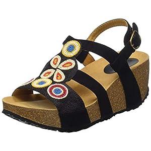 Desigual Shoes (Odisea_Flower Beads), Sandali con Cinturino alla Caviglia Donna