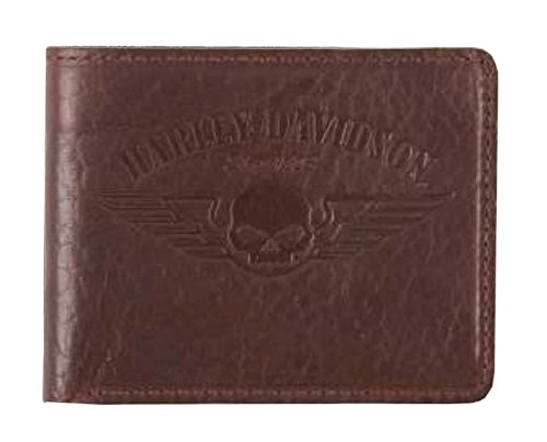 Harley Davidson American Billfold Wallet US1681L BROWN