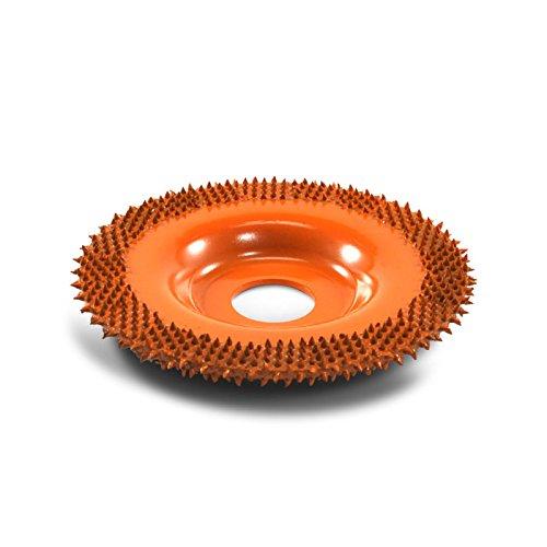 Raspelscheibe 4' (101cm) Saburrtooth fü r Winkelschleifer verschiedene Versionen (Flach, Orange)