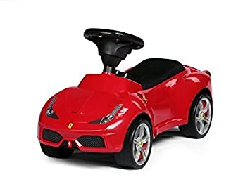 Kids Childrens Push Seating Large Car Red Ferrari Bentley Baby Toddler Ride On Foot Licenced Auto