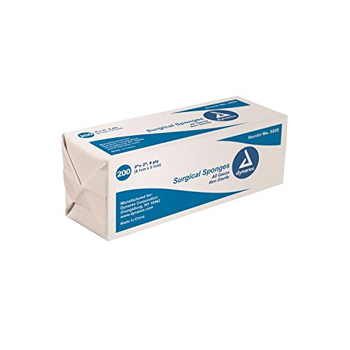 Gauze Sponges Bulk Non-Sterile 4 X 4 -8ply Bag/200 by AmericanMedMart.com (Image #1)