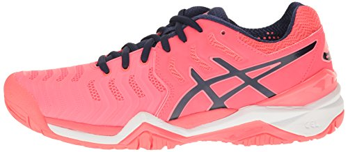 Pictures of ASICS Women's Gel-Resolution 7 Tennis Shoe White/Silver 5