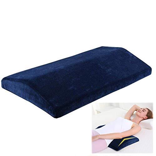 Almohada para dormir para el dolor de espalda inferior - Espuma de memoria multifuncional Almohada de apoyo lumbar...
