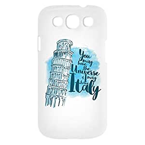 Loud Universe Samsung Galaxy S3 You May Have Universe If I May Have Italy Print 3D Wrap Around Case - White/Blue