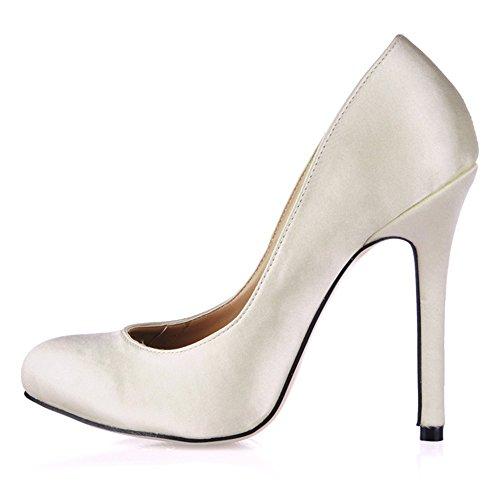 De Zapatos Fine Negro El Barnizado Cuero Talón Silk Alto Jefe Primavera La Ronda White Emulation Milky Sabor 5rzw7zYq4
