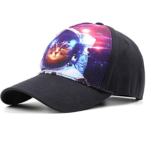 Baseball Caps for Men and Women, Adjustable Hats for Space Cat