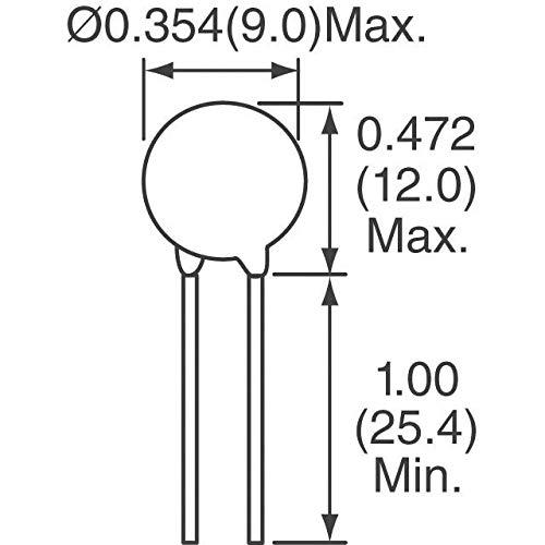 LITTELFUSE V8ZA1P ZA Series 5.5 VDC 4 V RMS 22 V Clamp 100 A 3000 pF Radial Lead Varistor s 100 item