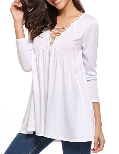 Long Sleeve Baby Doll Top - 7
