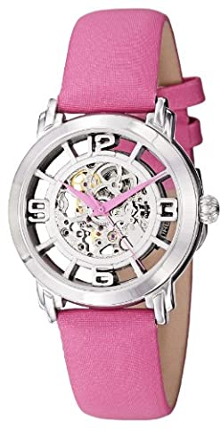 Stuhrling Original Women's 156.121A2 Legacy Automatic Self Wind Pink Satin Twill Covered Strap (Pocket Watch Stuhrling)
