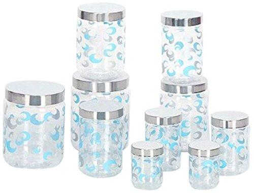 Steelo Selo Kitchen Storage Container Set, Safe Plastic, 10 Pieces