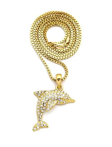 Hip Hop Rope - NEW ICED OUT DOLPHIN PENDANT & 24