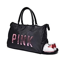 High Capacity Sequin Waterproof Sports Bag With Shoe Space (Large)