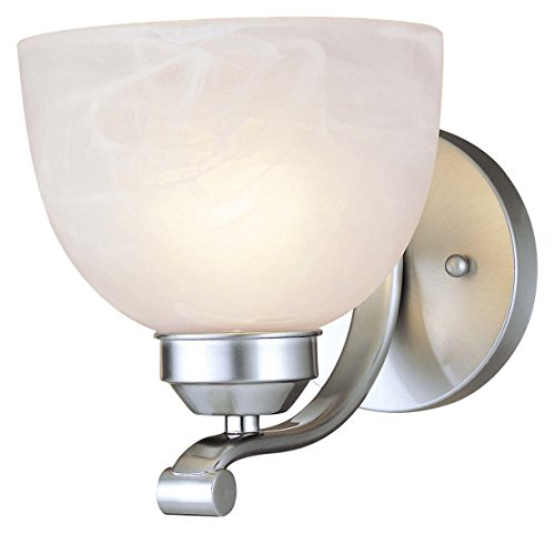Minka Lavery 5421-84 Paradox 1-Light Bath in Nickel 84 Paradox Bath Lighting