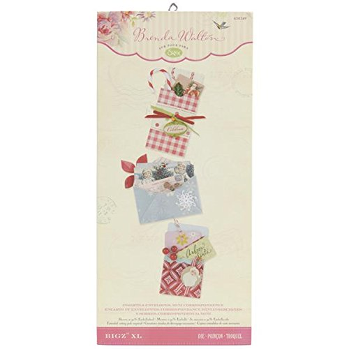- Sizzix 6 by 13.75-Inch Bigz Die, X-Large, Correspondence Inserts and Envelopes