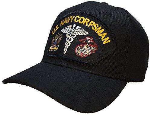 (Corpsman Hat US Navy Marine Corps Black)