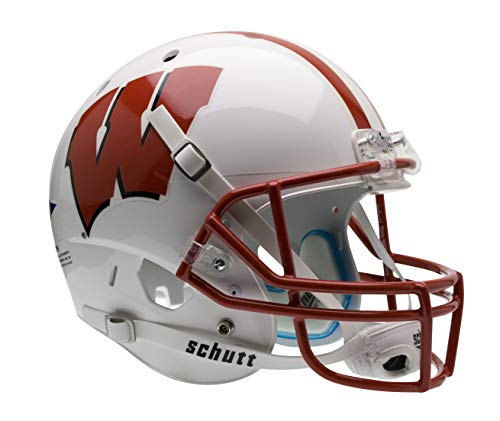 Schutt NCAA Wisconsin Badgers Replica XP Football Helmet, Classic