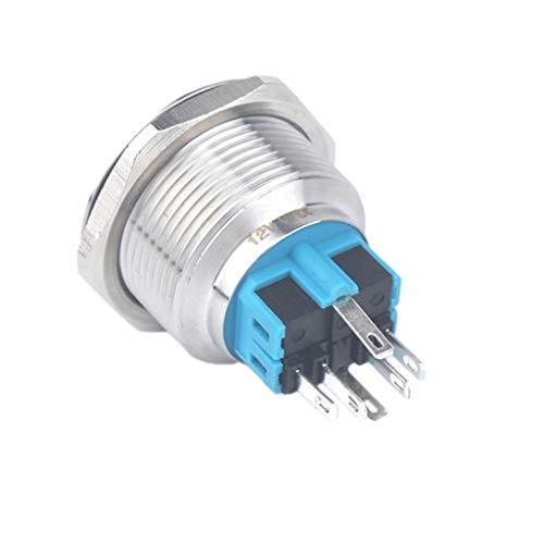 25mm 12V リセット 押しボタンスイッチ ステンレス鋼 LEDリングライト フラットヘッド