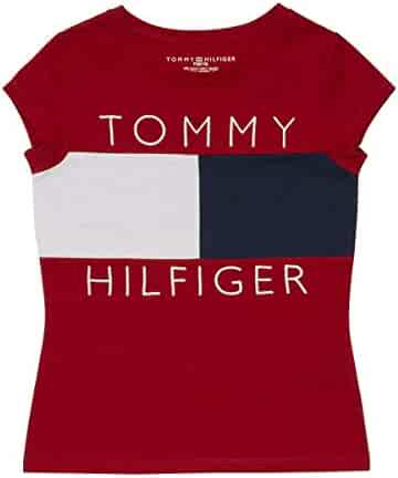 Tommy Hilfiger Big Girls' Pieced Flag Tee