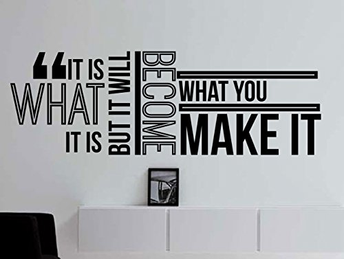 What it is Inspirational Wall Decal Quote for staying Inspired, Motivated, Focused, Positive, Motivational Office Wall Decor Wall Art Vinyl Wall Decal Words and Saying 42x15 In. (Vinyl Wall Words)