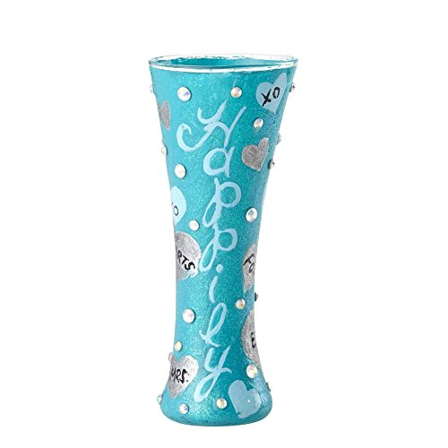 "Designs by Lolita ""Happily Engaged"" Hand-painted Artisan Shooter Shot Glass, 1 oz."